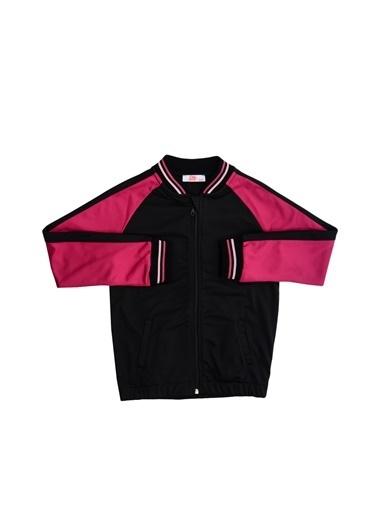 Pink&Orange Sweatshirt Siyah